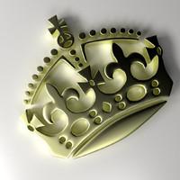 crown emblem 3d model