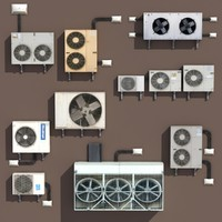 air conditioning pack 3d model