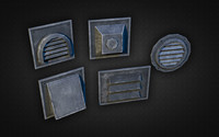 wall vents pack 01 3d 3ds