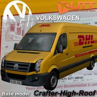 3d model volkswagen crafter van dhl