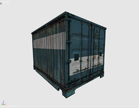 3d obj shipping cargo container