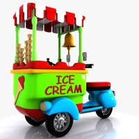 Cartoon Icecream Bike