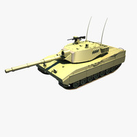 3d model tank of-40 mk ii