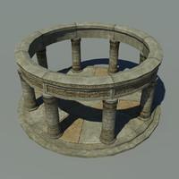3dsmax ancient altar