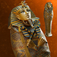 3d model sarcophagus tutankhamun