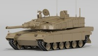 3d model k2 black panther battle tank