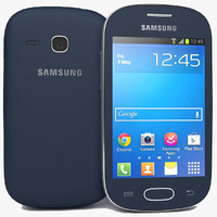 samsung galaxy fame s6810 3d model