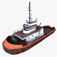 3d tug boat tugboat
