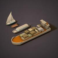 boats 3d model