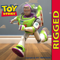 3d buzz lightyear rigged model