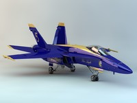 3ds max hornet fighter flight blue angels