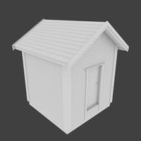 utility building exterior 3d obj