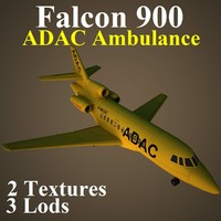 3d model of dassault falcon 900 adc