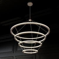 3d model halo chandelier roll hill