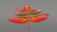 3d obj oregon grape leaf