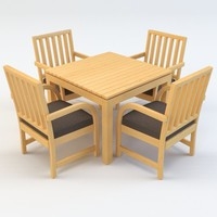 3d patio chair table