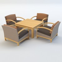 table chair patio 3d model