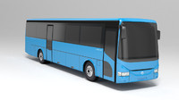 3ds low-poly bus irisbus arway