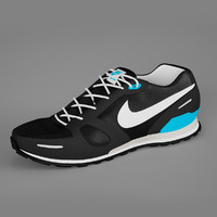 shoes nike waffle trainer 3d model
