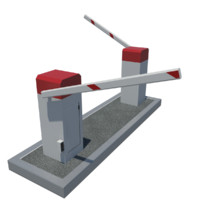 parking barrier 3d model
