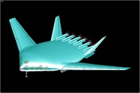 3d tu-404 mega transport aircraft