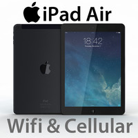 realistic ipad air cellular 3d max