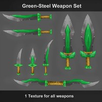 weapons green-steel 3d fbx