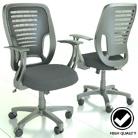 work office chair 3d obj