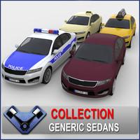 generic sedan madeon 3d 3ds