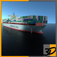 3d maersk cargo ship model