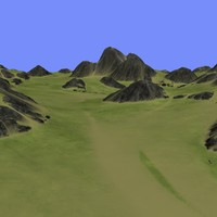 3d model metay terrain km-07