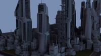 maya scifi city cityscapes