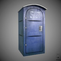 3ds max portable toilet