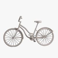 3d model simple bike