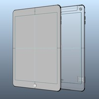 Apple iPar Air Solid Nurbs IGS SAT