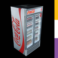 3d drinks fridge coca-cola gdmddretro model