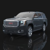 3d model of 2015 gmc yukon