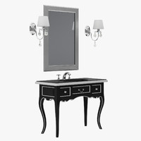 3d model glamour washbasin