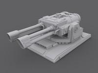 3d flameturret turret