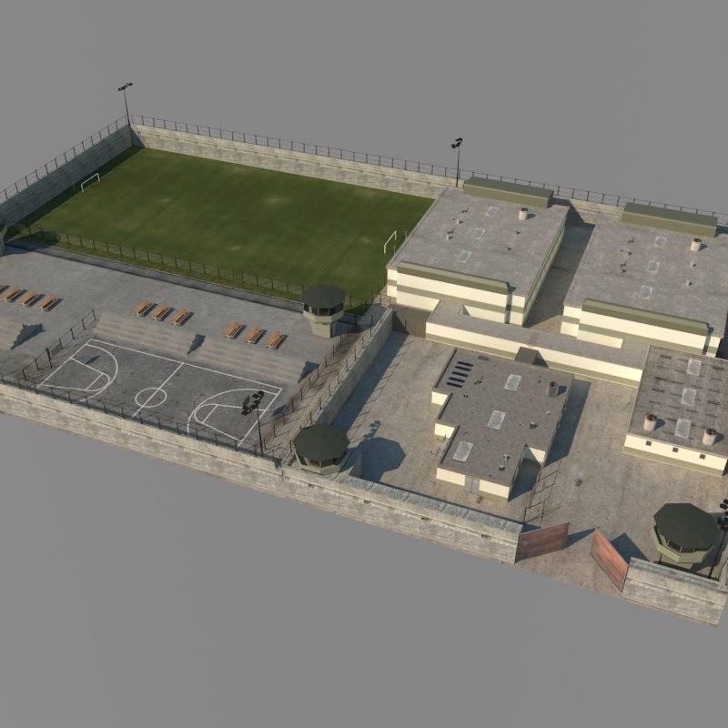 Prison exterior scene 3d model for Exterior 3d model
