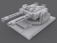 gatlingturret turret 3d model
