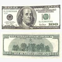 100 dollar bill 3d c4d
