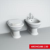 wc bidet 3d max