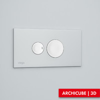 flush button 3d model