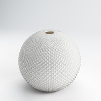 3d model diamond cut globe vase
