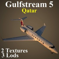 3ds max gulfstream 5 qtr