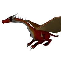 dragon skeletal animation 3d model
