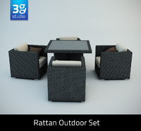 Rattan Outdoor Set 1