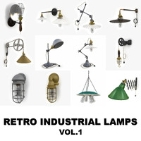 retro industrial lamps 1 3d max