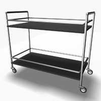 c4d serving trolley cart